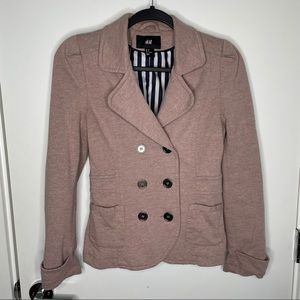 H&M dusty pink/lilac pea coat
